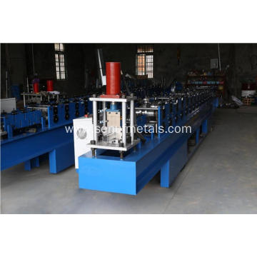 Aluminum shutter door guide frame roll forming machine